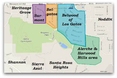 Belwood Belgatos Surmont and nearby area map