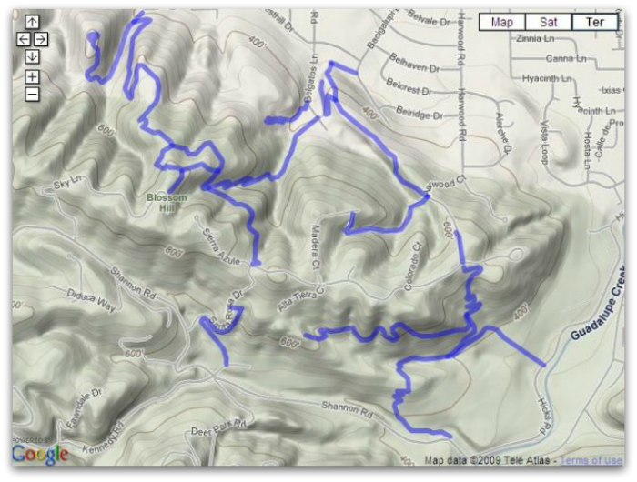 East Los GatosTrail Map Belgatos Heintz Open Space Shannon Valley
