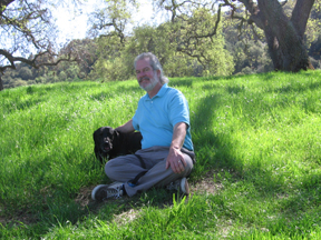 Jim Handy and Bella at Belgatos Park - Harwood Road in east Los Gatos is a meridian