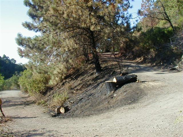 Heinz fire 3 Small - Heintz Open Space Preserve in East Los Gatos has small brush fire