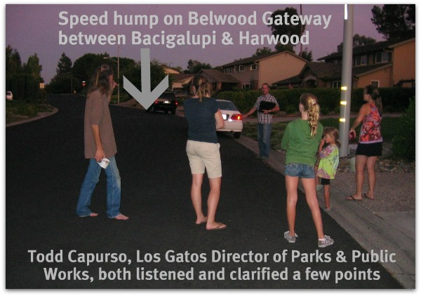 Speed hump location discussion on Belwood Gateway