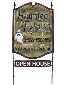 Haunted RE Sign