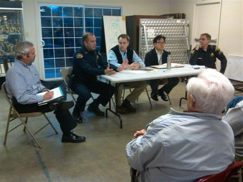 Panel at the explosion meeting in east Los Gatos