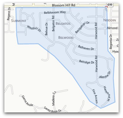 Belwood Belgatos Surmont area map