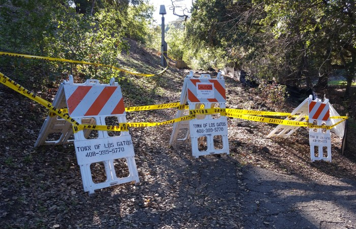 Trail area closed for renovations