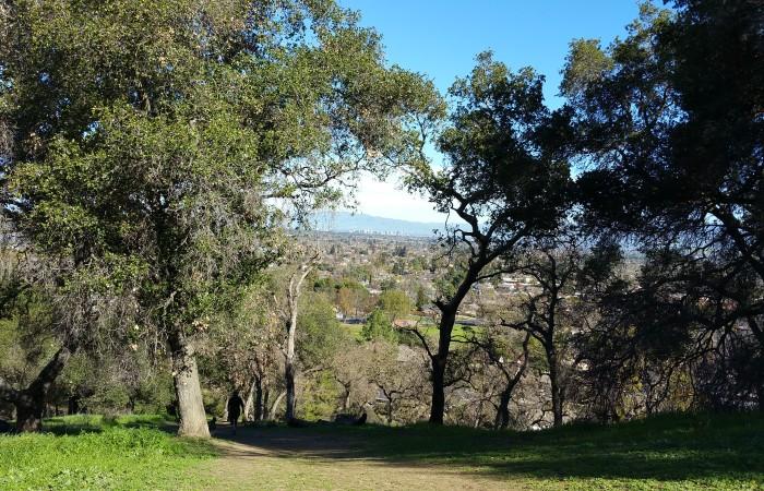 View toward Silicon Valley on Ridge Trail