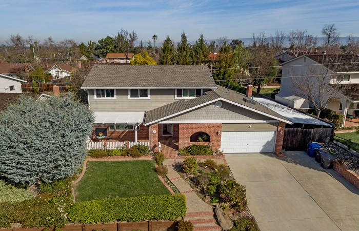 002 Aerial 700x450 - Exquisitely remodeled home & yard for sale in Belwood - 127 Belhaven Drive