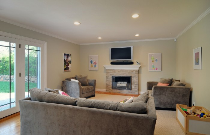 011 Family Room 700x450 - Exquisitely remodeled home & yard for sale in Belwood - 127 Belhaven Drive