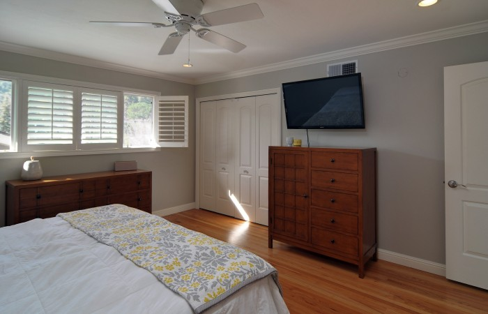016 Master Bedroom 2 700x450 - Exquisitely remodeled home & yard for sale in Belwood - 127 Belhaven Drive