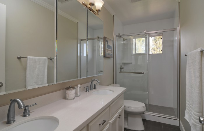 017 Master Bath 700x450 - Exquisitely remodeled home & yard for sale in Belwood - 127 Belhaven Drive