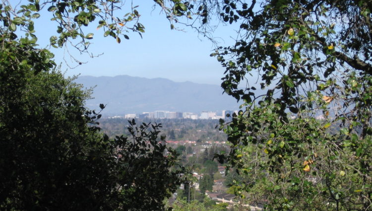 Views of downtown San Jose from the Ridge Trail