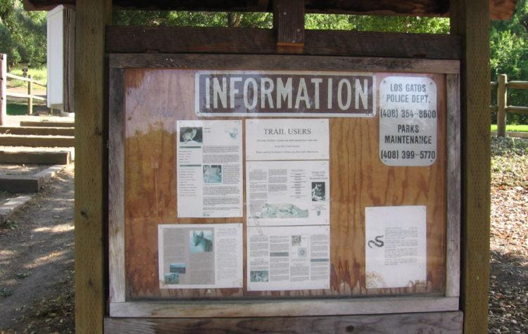 Belgatos Park Info Board