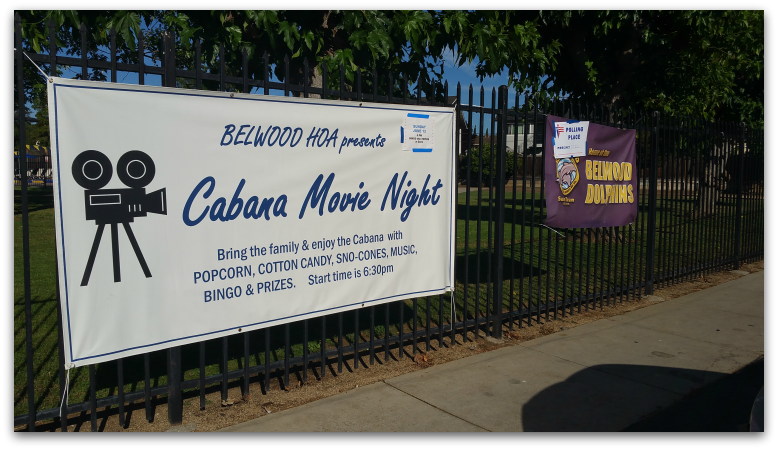 Belwood Cabana Movie Night