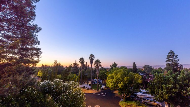 Sunset view at 211 Westhill Drive, Los Gatos CA 95032