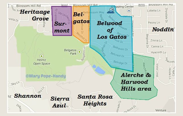 Map - Belwood Belgatos Surmont and nearby area